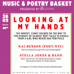 Looking at my hands: Music & Poetry Basket